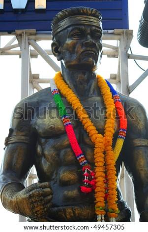 Thai boxer statue, Thailand.