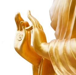 Thai Buddha on white background