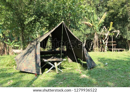 Thai bushcraft camping