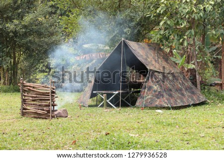 Thai bushcraft camping #1279936528