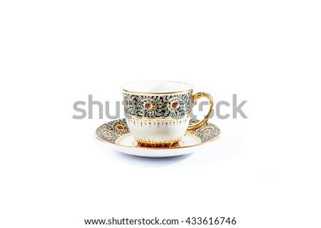 Thai Ceramic-Benjarong on white background #433616746