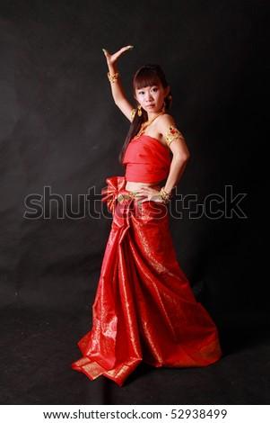 Thai classical dance. - stock photo