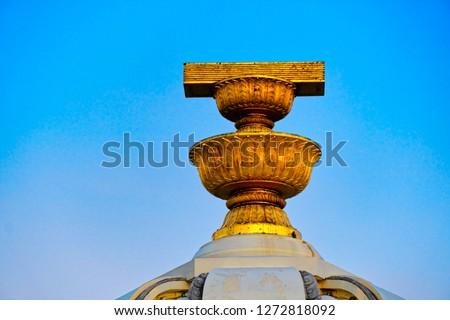 Thai constitution monument located on Ratchadamnoen road, Bangkok, Thailand. #1272818092