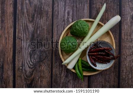 Thai cooking herbs, Tom Yum Soup Ingredients, Thailandม