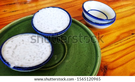 Thai dessert, a dessert called Dessert Cup made from flour and coconut milk  Delicious sweet taste #1565120965