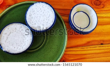 Thai dessert, a dessert called Dessert Cup made from flour and coconut milk  Delicious sweet taste #1565121070
