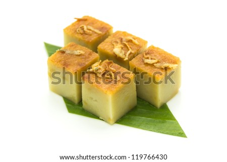 Thai dessert made from eggs and coconut milk