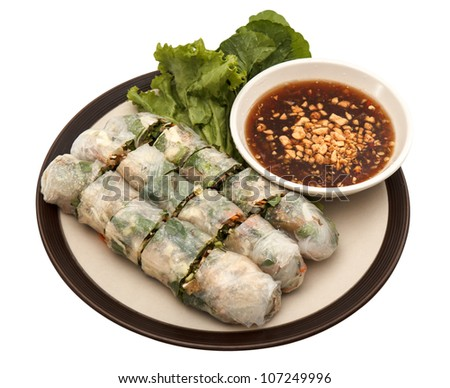 Thai dessert, vegetable inside flour sheet - stock photo