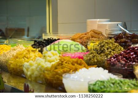 Thai Desserts,Mixed Dessert, Ice Dessert,Ruam Mit. #1138250222