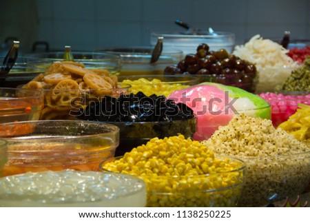 Thai Desserts,Mixed Dessert, Ice Dessert,Ruam Mit. #1138250225