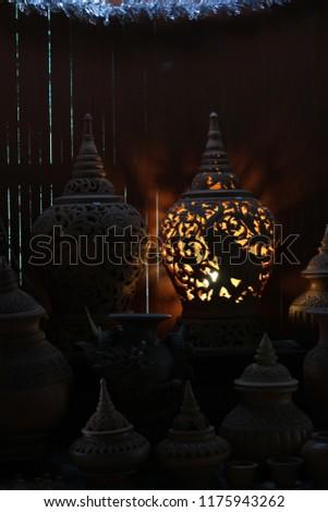 Thai earthenware Handmade, Pottery Handmade handmade sculpture. #1175943262