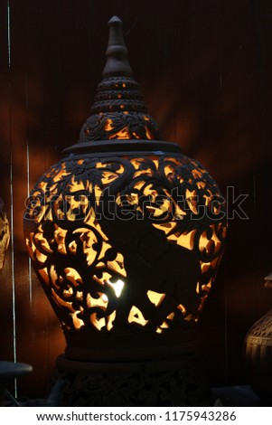 Thai earthenware Handmade, Pottery Handmade handmade sculpture. #1175943286