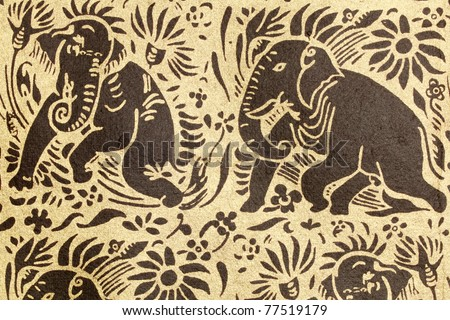 Thai Elephant Pattern Thai Elephant Pattern
