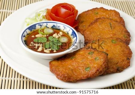 Thai fish cakes a famous appetizer