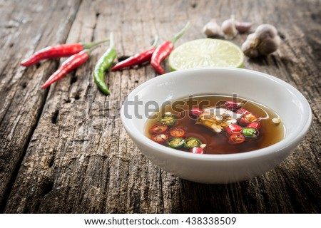 Thai fish sauce three taste. is made from real  ferment fish , lemon and garlic. have fragrant smell and three taste sweet, salty and sour, it popular Side dish any thai food.