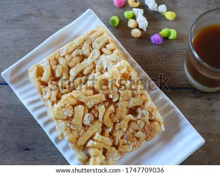 Thai flavor is called Khoa sai tud ,it's made from flour ,sugar and egg. Stock fotó ©