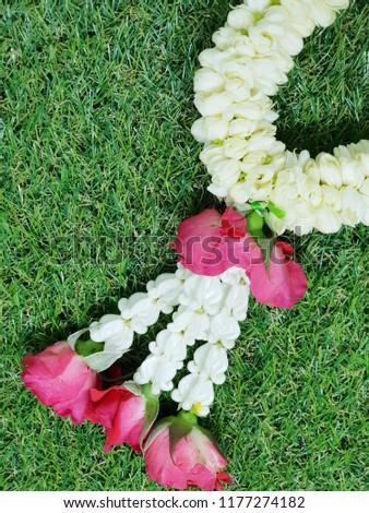 Thai floral garland #1177274182
