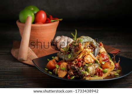 Thai food called Som Tum, the most favorite food in Thailand. Zdjęcia stock ©