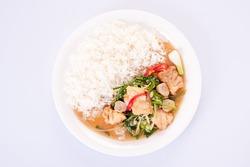 thai food,Deep Fried Ruby Fish with Thai Herb