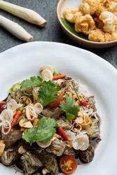 Thai Food menu set mixed thai foodmenu