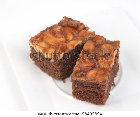 Thai food snack cake on white background.