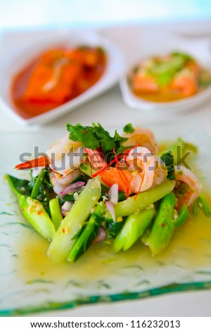Thai Food, Spicy with seafood