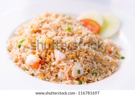 Thai fried rice with crab meat ,thai food favorite