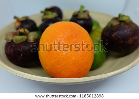 Stock Photo Thai fruits in the basket