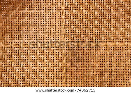Thai handcraft of bamboo weave pattern