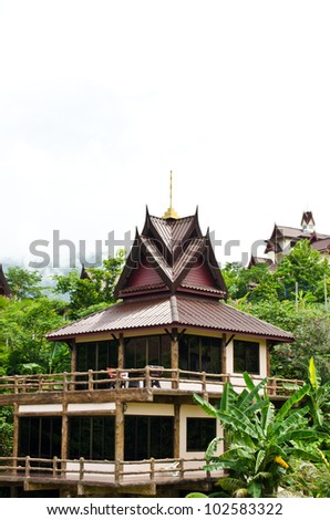 Thai home  style in the mountain.