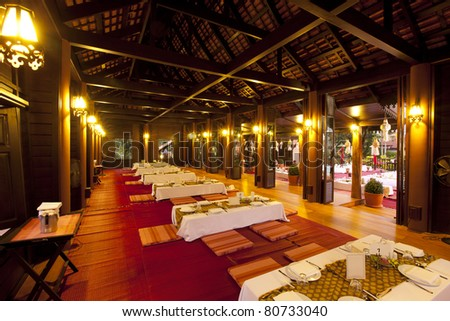thai house on night