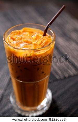 Thai Ice Tea - stock photo