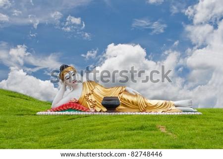 Thai Lanna Buddha Statue. Buddha Statue in Denchai,Phrae Thailan
