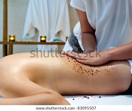 Thai Massage in spa room.