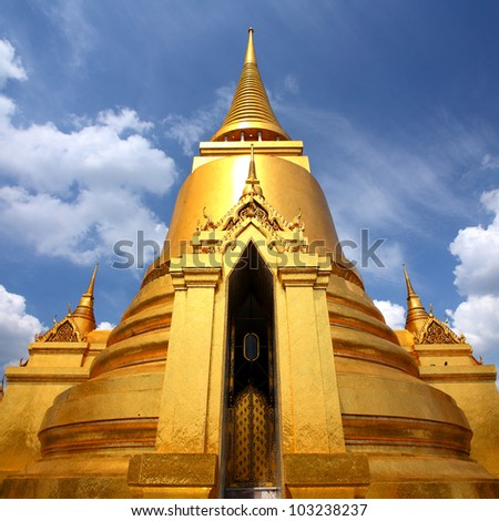 Thai Pagoda in the Royal Palace is beautiful at Wat Phra Kaew, Thailand
