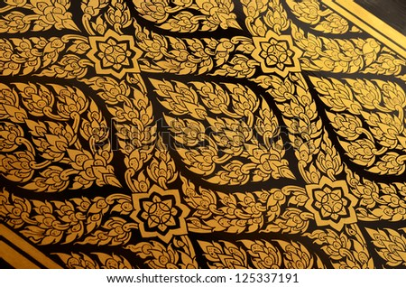 Thai Pattern art of Wat Suwannaram Temple, Bangkoknoi, Thailanland