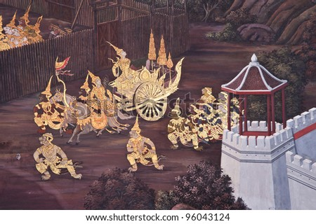 thai pattern,Public Art Painting at Wat Phra Kaew