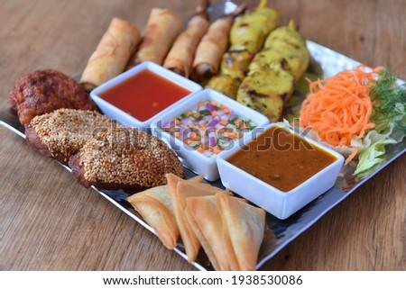 Thai Platter, Best Appetiser (Traditional Thai Starters) Stock photo ©