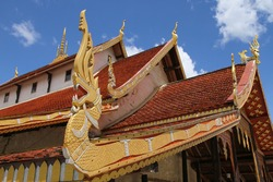 Thai Religious architecture on the roofs of Thai temples.