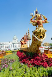 Thai Replica Royal Boat Cultural Heritage Traditional Bangkok Thailand