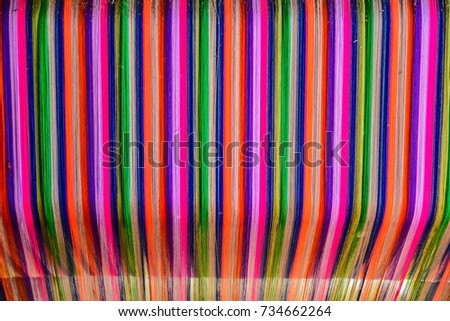 Thai silk colorful,colorful pattern,colorful background,colorful texture. #734662264