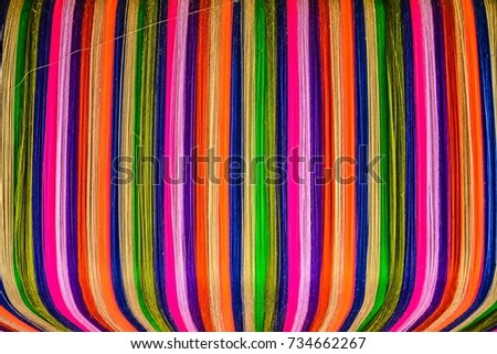 Thai silk colorful,colorful pattern,colorful background,colorful texture. #734662267