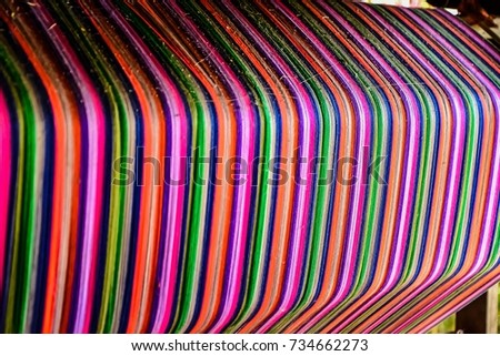 Thai silk colorful,colorful pattern,colorful background,colorful texture. #734662273