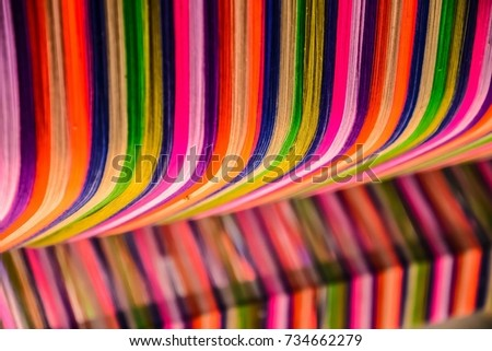 Thai silk colorful,colorful pattern,colorful background,colorful texture. #734662279