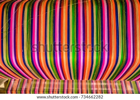 Thai silk colorful,colorful pattern,colorful background,colorful texture. #734662282