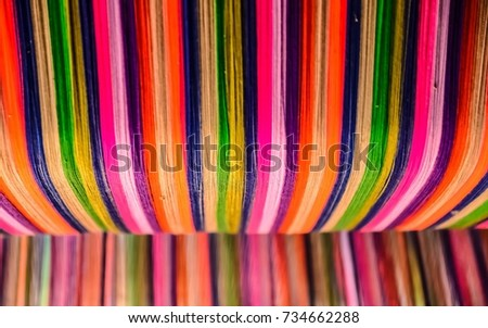 Thai silk colorful,colorful pattern,colorful background,colorful texture. #734662288