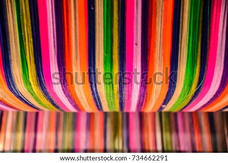 Thai silk colorful,colorful pattern,colorful background,colorful texture. #734662291