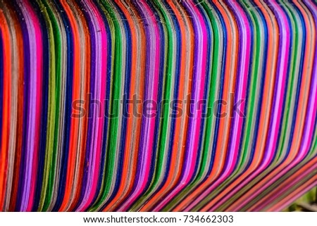 Thai silk colorful,colorful pattern,colorful background,colorful texture. #734662303