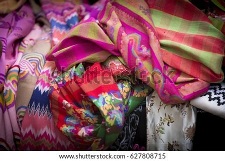 Thai Silk Fabric, Mixed #627808715