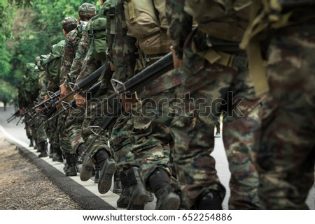 Combat boots of Thai military soldier Images and Stock Photos